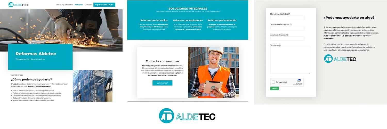 Página web Aldetec